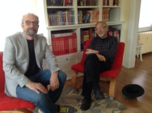 Art and me at my house the day after his recent lecture