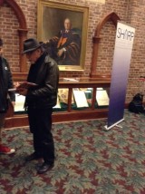 Art Spiegelman signing books following his lecture at the University of Richmond, February 2016