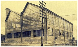 David Horseley's Centaur Film Company building at 686-88 Avenue E in Bayonne, circa 1914. It housed production, developing, editing, and shipping facilities. When Horsely returned to California in 1915, he sold the building to the Cello Film Company, but in 1917, one of the bailing machines caught fire and the building went up in a blaze; two employees died.