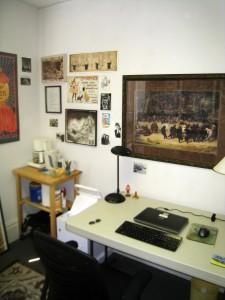 My cozy new writing studio on Strawberry Street in Richmond, Virginia