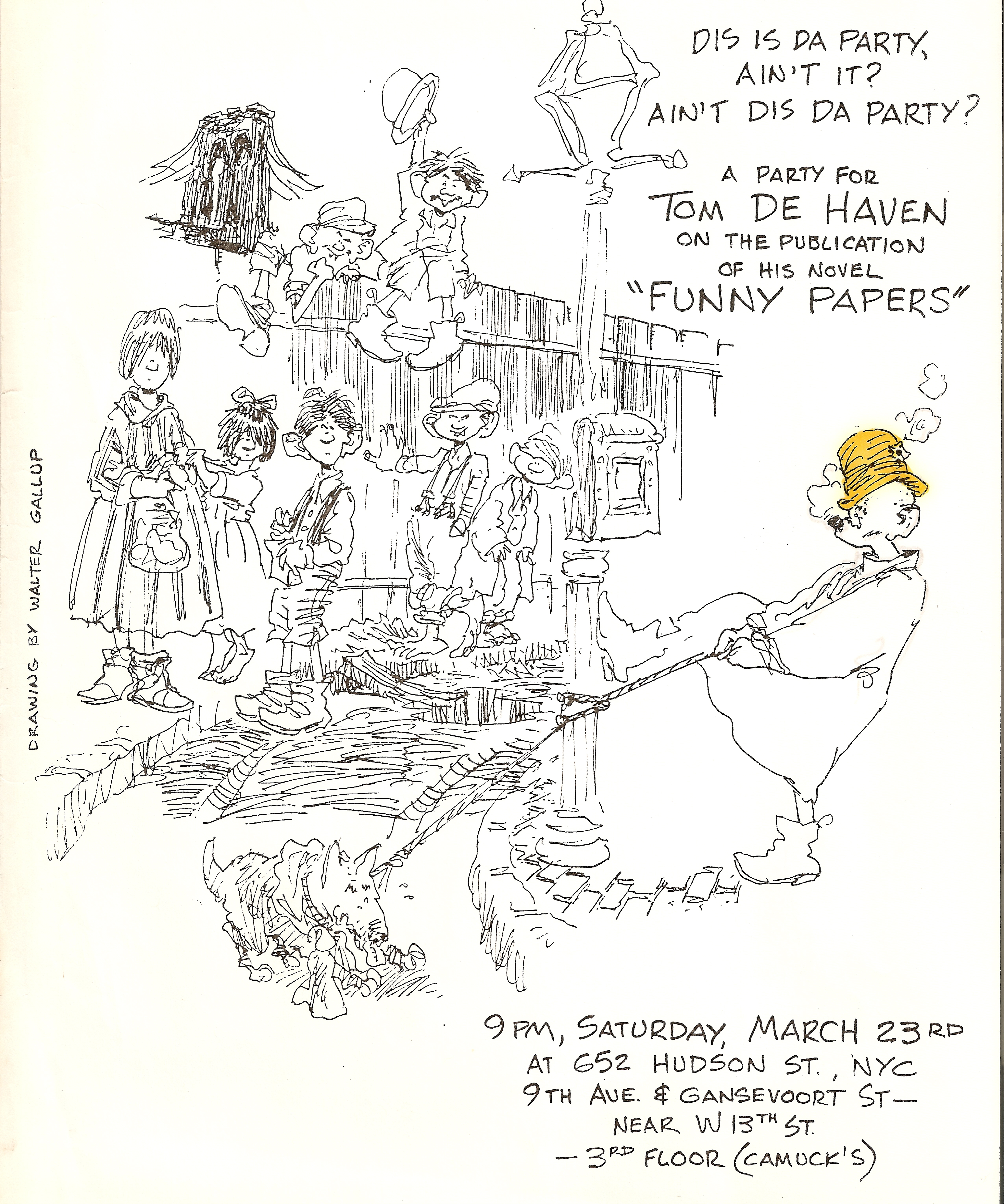 NOTES ON FUNNY PAPERS Café Pinfold - Nyc map funny