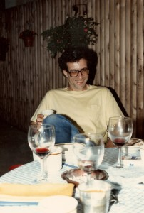 This picture of me was taking in the backyard of our Jersey City rowhouse in the summer of 1987, just around when I started writing Painters in Winter.