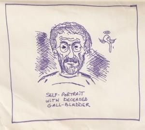 Self Portrait with Deceased Gall Bladder