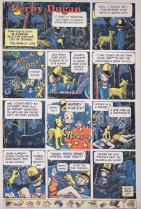 "Art Spiegelman's faux-""Derby Dugan"" Sunday page, circa 1936, done in the style of Harold Gray's ""Little Orphan Annie."