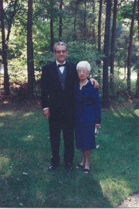 With my mother, Margaret Hussey (who'd recently turned 90) on the way to the Library of Virginia Book Awards banquet, fall 2002